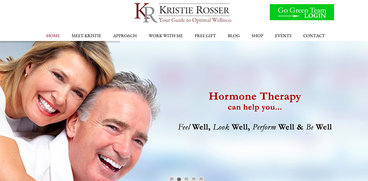 KR Wellness website