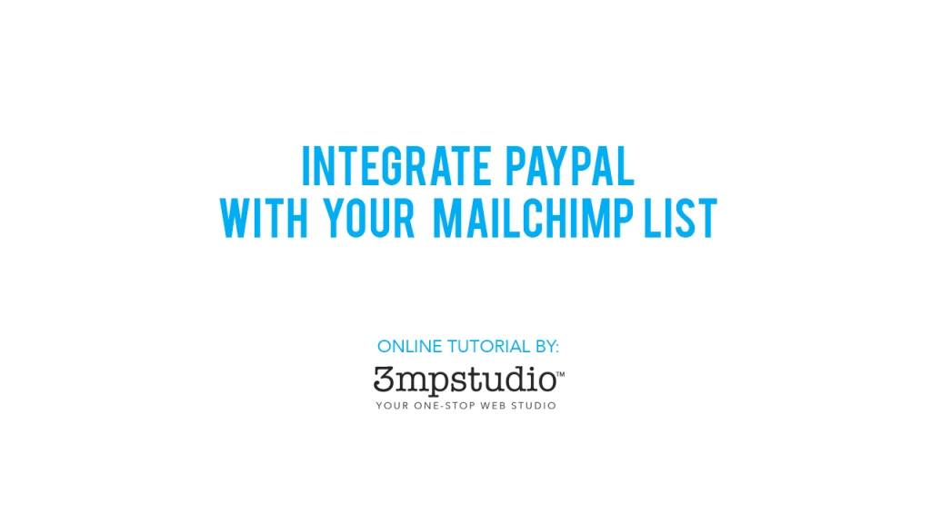 Integrate Mailchimp with PayPal